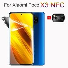 กระจกนิรภัยPoco X3 NFC, Poco F2 ProฝาครอบHydrogelฟิล์ม,สำหรับXiaomi Poco X3 Pocophone X3กล้องฟิล์ม