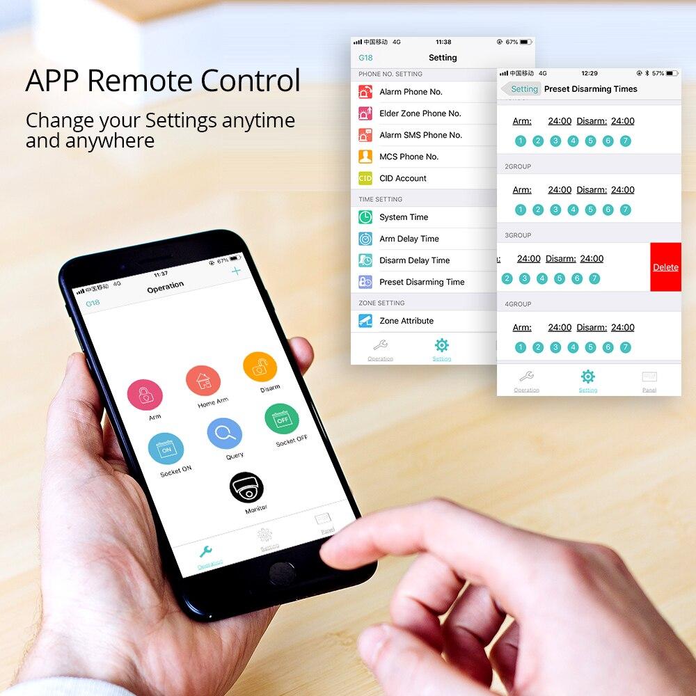 KERUI inalámbrico WIFI en casa de seguridad GSM Kit de sistema de alarma de Control APP con Dial Auto Detector de movimiento Sensor de sistema de alarma antirrobo - 6
