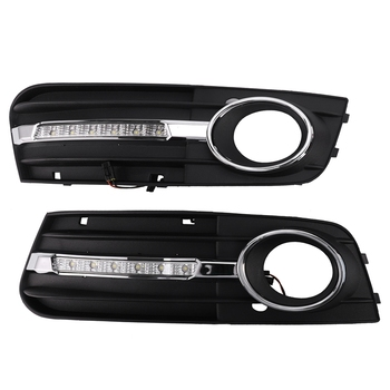 for A u d i A4 A4L B8 2009-2012 Led Daytime Running Light Fog Lamp Cover DRL