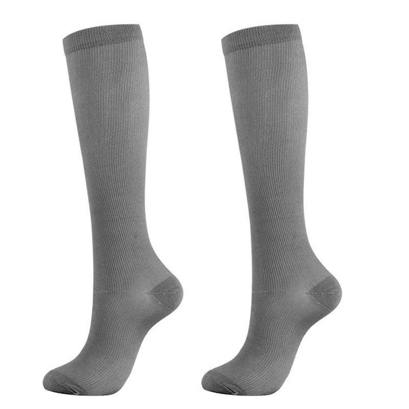 Women Solid Color Stockings Black White Gray Stock Nylon Pressure Compression Varicose Vein Leg Knee High Support long Stocking