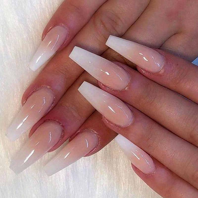 SAVILAND 12 pcs/100 stuks Fashion Volledige Cover Wit/Helder/Natuurlijke Gemengde Valse Nail Art Tips UV quick Poly Gel Nail Art Gereedschap