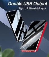 10000mAh Power Bank External Battery Pack LED Light Display Power Bank Dual USB Portable Charger Powerbank For Xiaomi iPhone 11|Power Bank|   -