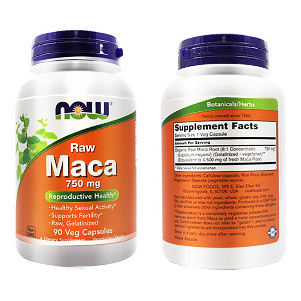 [Now Foods] or food with maca 750mg vege capsule supplement book-degree PCs-mood, united States imported, men's health food, home happy guarantee 5