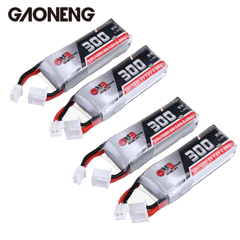 2 / 4 PCS Gaoneng GNB 7.6V <font><b>300MAH</b></font> 50C <font><b>2S</b></font> HV 4.35V PH2.0 <font><b>Lipo</b></font> Battery for Emax TinyhawkS RC FPV Racing Drone Quadcopter DIY Parts image