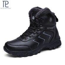 Mới Nam Cổ Cao Hàng Đầu Plus Nhung Giữ Ấm Lớn Kích Thước Mắt Cá Chân Giày Chống Trơn Trượt Tuyết Giày Mùa Đông Nam cao Su Thể Thao Sneakers
