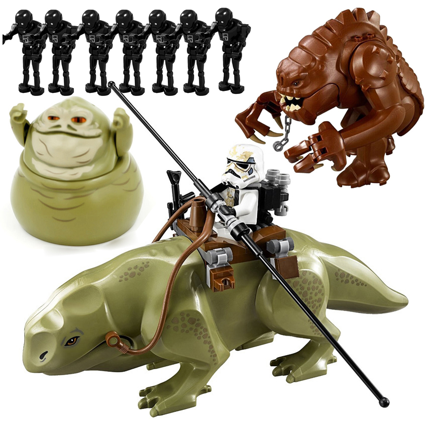 2019 Star Wars Rancor Planet Movie Wars Blocks Starwars Model Cartoon Toys Children Dewback Figure Jabba Figurs Fit For Legoing