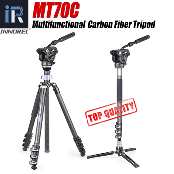цена на INNOREL MT70C Carbon Fiber Tripod Monopod Multifunctional Panoramic Professional Kit for Video Digital DSLR Camera Camcorder