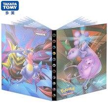Jeu de cartes avec Album, 240 pièces, Pokemon, dessin animé Mewtwo, Collection de livres, liste chargée, jouet pour enfants, cadeau pour garçon