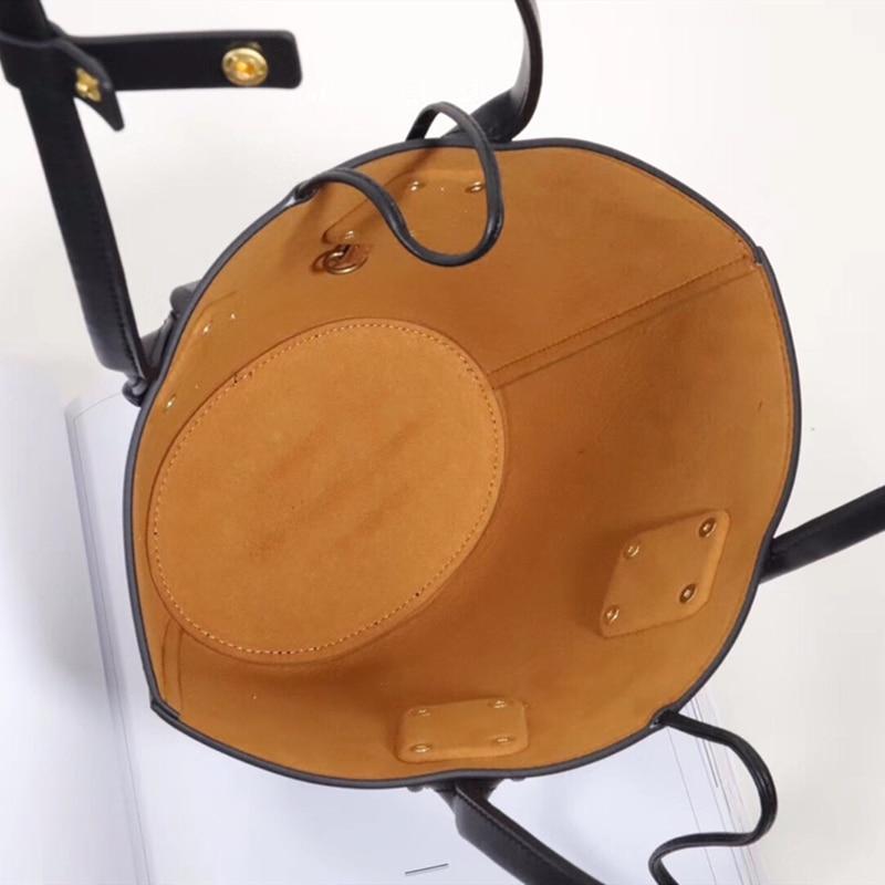 Маленькая женская сумка из коровьей кожи, Ретро стиль, длинные ремешки, женская сумка мешок, 2019, известный дизайнер, сумка через плечо, модны... - 6