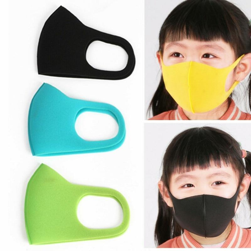 3Pcs/Set Child Face Mask For Kids PM2.5 Dustproof Smoke Proof Flu Pollution Mask Washable Respirator Mask Protective Mask