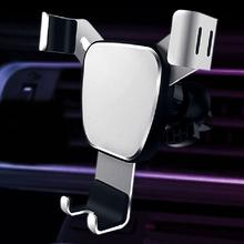 Stylish Car Air Outlet Triangle Gravity Mobile Phone Holder Metal Stand Bracket