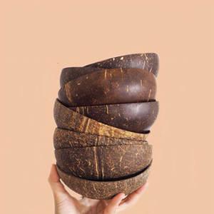 Wood Bowl Crafts-Decoration Fruit-Salad Ice-Cream Noodles-Rice Coconut Eco-Friendly Creative