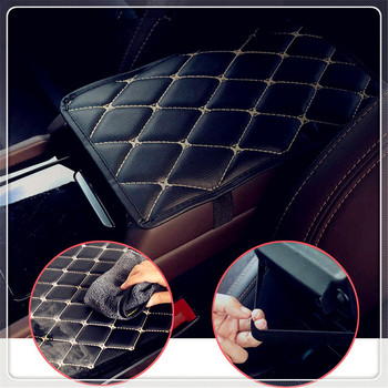 Car Armrest Mat Auto Armrests Mats Cushion Cover Pad for Toyota Yaris Tundra Tacoma RAV4 Corolla Aygo Avalon Auris image