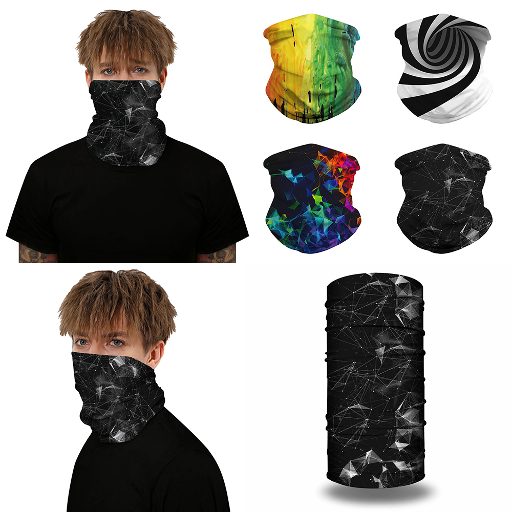 Outdoor Bandanas 3D Cycling Scarf Flash Illusion Neck Gaiters Camping Mouth Face Protection Hiking Scarves Men Tube Bandana 2020
