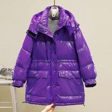 JTTYYK Winter Jacket Women 90% White Duck Down Parkas Hooded Thicken Warm Female Down Jackets Purple Yellow Snow Feather Outwear