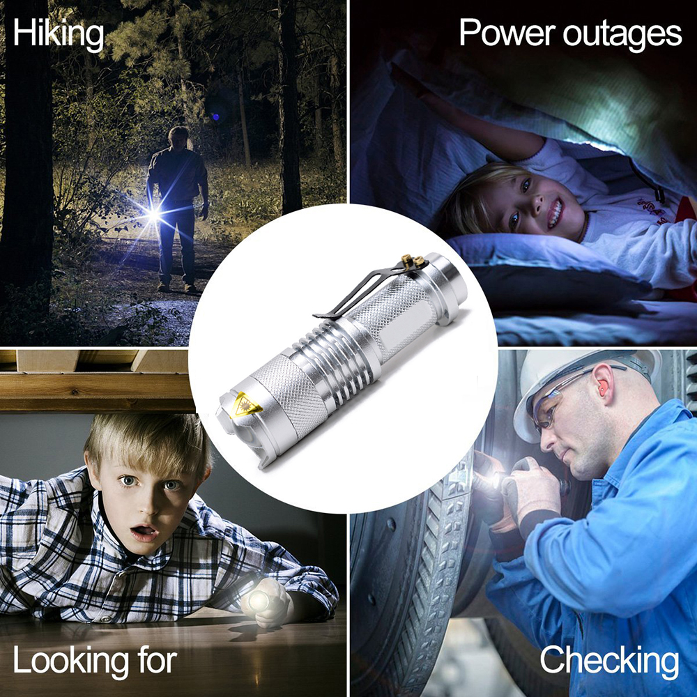 Купить с кэшбэком Colourful Waterproof LED Flashlight High Powerful Mini Spot Lamp 3 Models Zoomable Camping Equipment Torch Flash Light
