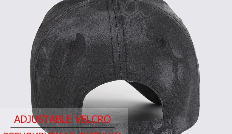 17 Colors Camo Men's gorras Baseball Cap Male Bone Masculino Dad Hat Trucker New Tactical Men's Cap Camouflage Snapback Hat 2020 9