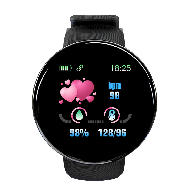 D18 Smartwatch Fitness Watches Smart Watch Men Women Blood pressure Step Stopwatch for IOS Android Smart Bracelet