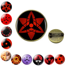 Naruto Anime broche broche Sharingan Eye bijoux Uchiha Sasuke Uzumaki Clan Rinnegan yeux Badge Cosplay broches cadeau pour Fan d'anime(China)
