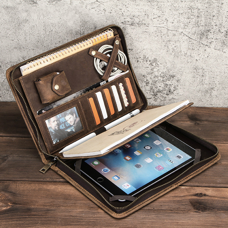Luxury Retro Cow Leather Case Cover For ipad mini 7.9 inchTablet Sleeve Pouch Notebook Case Bag