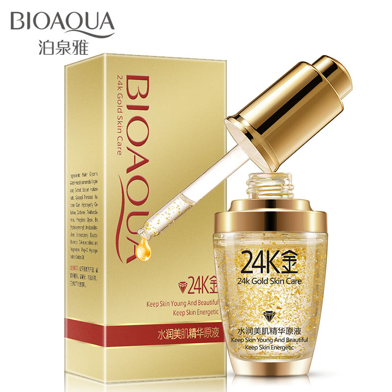 BIOAQUA Pure 24k Gold Essence Face Serum Skin Care Anti Wrinkle Anti Aging Collagen Whitening Moisturizing Day & Night Cream