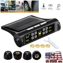 Pressure-Alarm-Monitor-System Solar-Power TPMS Car-Tire Tyre-Pressure Temperature-Warning