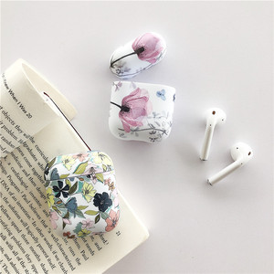 Image 3 - Art Oil Painting Case For Airpods Cover Luxury Luminous Flower Bluetooth Earphone Soft Case  Headphone Case Box For Apple Airpod