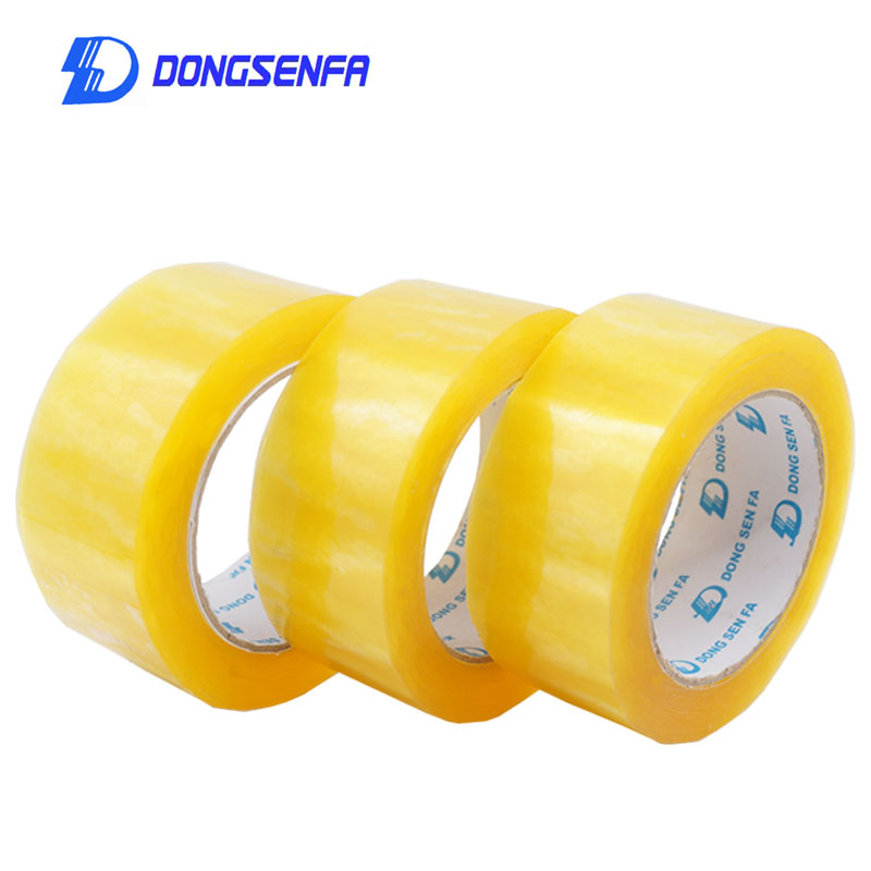 DONGSENFA 50mm X 40Y Parcel Box Adhesive Clear Packing Packaging Shipping Carton Sealing Tapes Adhesive Tape