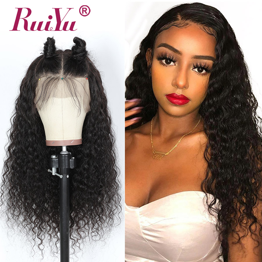 Water Wave Lace Front Human Hair Wigs 13X6 13X4 360 Lace Frontal Wig Pre Plucked With Baby Hair RUIYU Lace Wigs 8