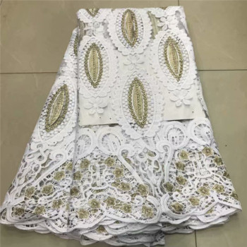Best Selling African Lace Fabric Nigerian French Fabric 2020 High Quality African French Tulle Lace Fabric with stones df66-840