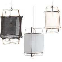 Nordic minimalist pendant lights illuminate Linen black/white bamboo pendant lamp for Dinning Living room bedroom hanging lamp(China)