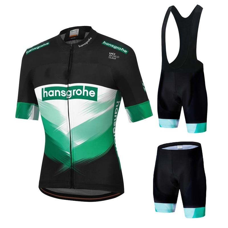 New 2020 Boraing Hansgrohe Cycling Jersey Set Short Sleeve Cycling Shirt Bike Bicycle Clothes Clothing Ropa Ciclismo Summer Wear