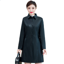 цены 2019 Autumn Winter Women Faux Leather Jacket Plus Cotton PU Leather Trench Winter Long Black Coat Female Outerwear Plus Size 5XL