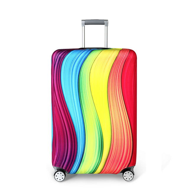 Color : Tiger//red, Size : M 22-24 ShurndGao Luggage Cover 18-32 Inch Dustproof Travel Trunk Cover Rainproof Elastic Luggage Protector Thick Elastic Fiber Waterproof Luggage Protection Bag
