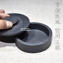 Chinese She Inkstone Hand Carving Inkslab for Calligraphy Ink stone student Inkwell with cover Ink Well Grinding Ink-well