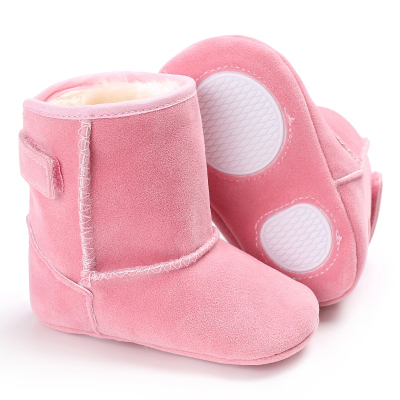 Baby Girl Shoes Classical Autumn Winter Plush Thick Warm Snow Boots Kids Simple Style Solid Children Shoes #06