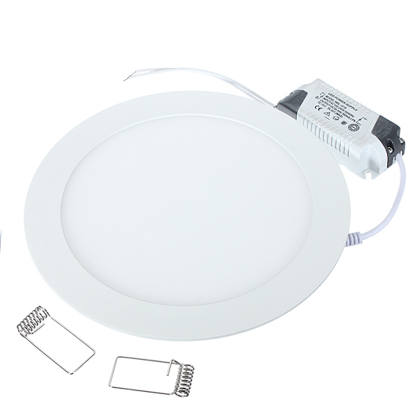 Dimmable LED Panel Light Ultra Thin Ceiling Recessed Downlight 3w 4w 6w 9w 12w 15w 25w Round LED Spot Light AC85-265V image