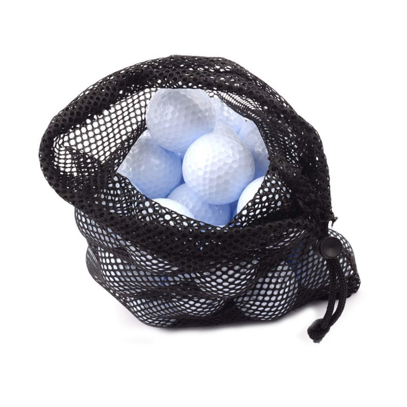 Outdoor Sports Nylon Mesh Nets Bag Pouch Golf Tennis Hold Up To 45 Balls Holder Golf Balls Storage Closure Training Aid