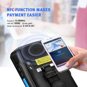 Image 5 - ISSYZONEPOS Handheld POS Terminal 2D QR  Barcode Scanner NFC PDA Android 8.1 5 Inch Wireless Portable Bar Code Rearder WiFi