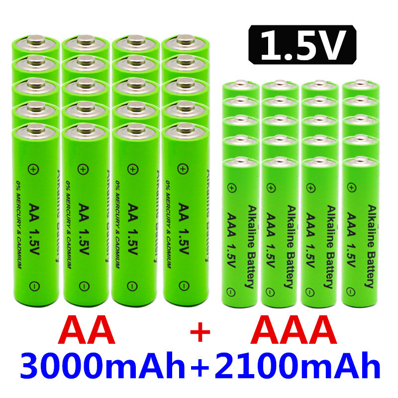 <font><b>1.5V</b></font> <font><b>AA</b></font> + AAA NI MH Rechargeable <font><b>AA</b></font> <font><b>Battery</b></font> AAA Alkaline 2100-<font><b>3000mah</b></font> For Torch Toys Clock MP3 Player Replace Ni-Mh <font><b>Battery</b></font> image