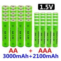 1.5V AA AAA NI MH batteria ricaricabile AA AAA alcalina 2100-3000mah per torcia giocattoli orologio lettore MP3 sostituire la batteria Ni-Mh