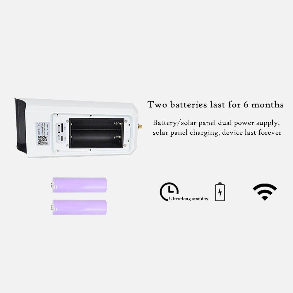 UBELL APP DC08 низкая мощность Солнечная беспроводная WiFi 1080P HD камера видеонаблюдения IP66 Водонепроницаемая камера без батареи