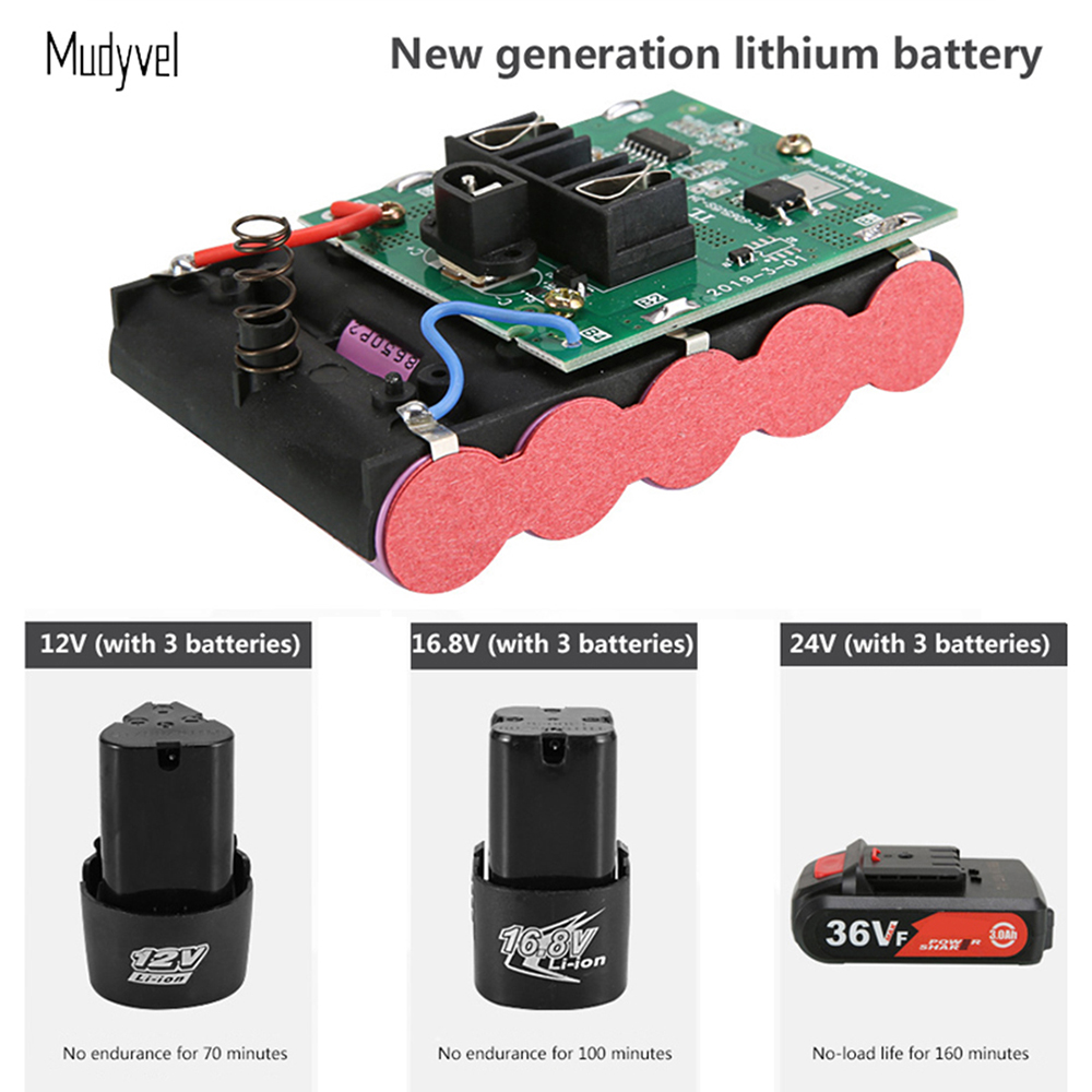 Cordless Drill Battery Rechargeable 12V 16.8V 21V Power Tool Cordless Screwdriver Mini