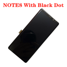 Original AMOLEDสีดำจุดสำหรับSAMSUNG Galaxy NOTE8 LCD N950U N950I N950Fจอแสดงผลจอสัมผัส