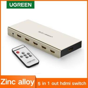 Image 1 - UGREEN HDMI التبديل 4K x 2K 5 ميناء 5 في 1 مقسم الوصلات البينية متعددة الوسائط وعالية الوضوح (HDMI) الجلاد صندوق يدعم ثلاثية الأبعاد متوافقة ل HDTVs بلو راي اللاعبين Xbox PS3/4