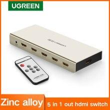 Ugreen hdmi switch 4 k x 2 k 5 porto 5 em 1 hdmi splitter switcher caixa suporta 3d compatível para hdtvs blu ray jogadores xbox ps3/4