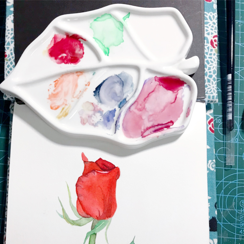 Leaf-shaped Ceramic Palette, Watercolor Palette, Easy To Clean, Artist Painting Tools, Paint Tray