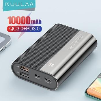 Внешний аккумулятор KUULAA Power Bank 10000 мАч QC PD 3,0 1