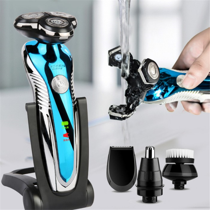 3D Electric Shaver Razor For Men Beard Hair Trimmer USB Charging Rechargeable One Blade Shaving Waterproof Machine