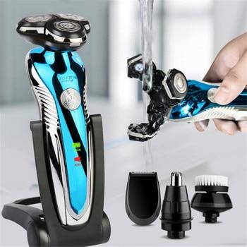 3D Electric Shaver Razor for Men Beard Hair Trimmer USB charging Rechargeable One Blade Shaving Waterproof Machine so white wireless 3d smart control usb charging electric razor shaver ipx7 usb charging shaving